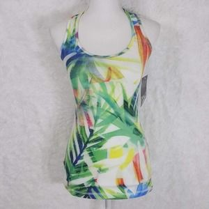 NWT DYI Tropical Racerback Workout Tank Sz S